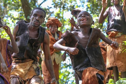 Batwa community in Bwindi Impenetrable Forest, Nkuringo Sector