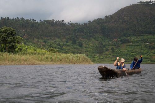 Canoe on Lake mutanda