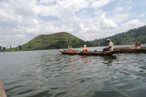 Canoe on Lake mutanda