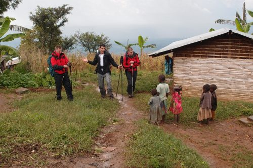 community walk in Bwindi