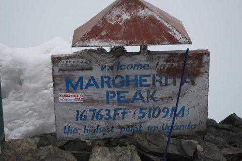 Margheritah Peak, highest point in Uganda. Rwenzori Mountains