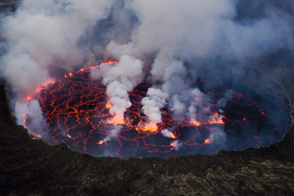 Hiking Mount Nyiragongo, Virunga Volcanoes in Central Africa