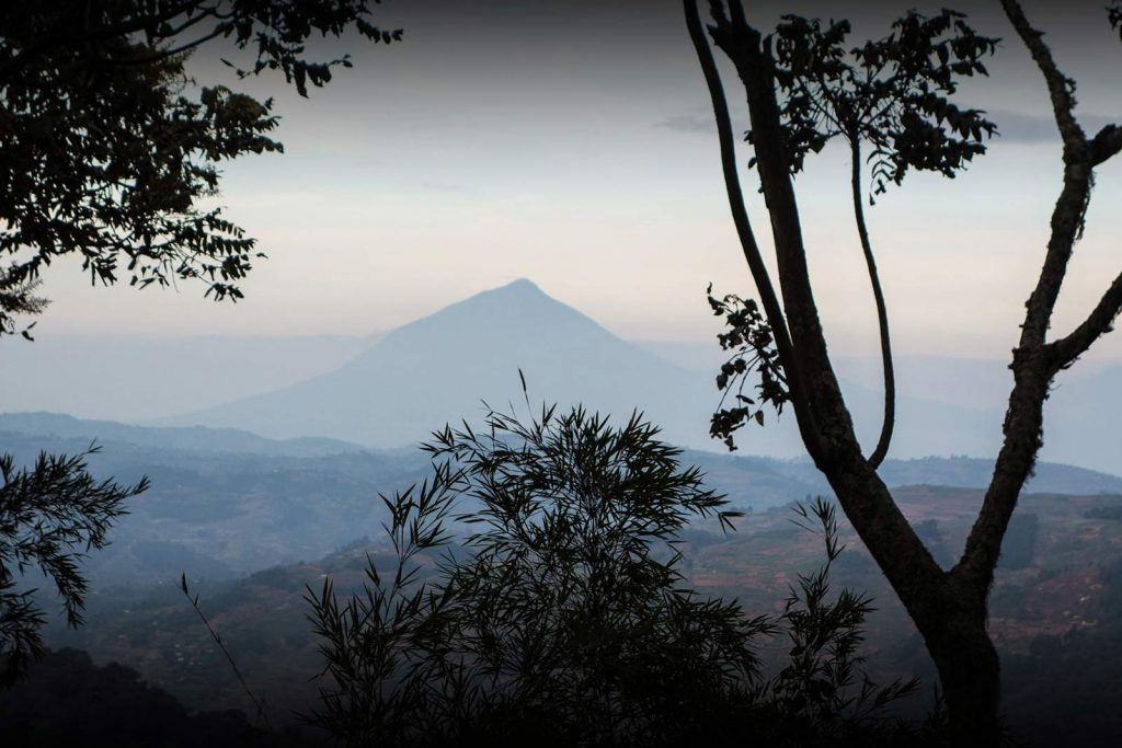 Hiking Virunga mountains, Mount Muhabura Uganda